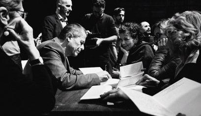 Emmanuel Carrère al Teatro Franco Parenti (dettaglio)