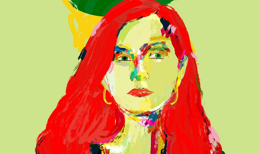 Isabelle Huppert - illustrazione di Davide Baroni (dettaglio)